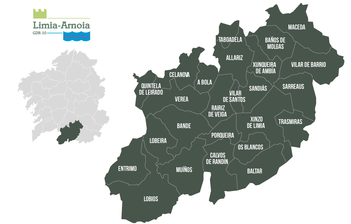 Mapa do GDR10 Limia-Arnoia