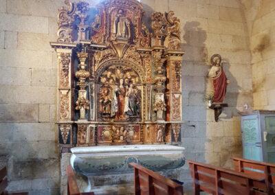 Restauracion do retablo Virxe Maior do Rosario Baltar